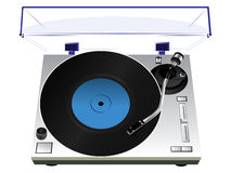 Record player. Vector illustration of a record player stock illustration
