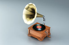Record player. Old record player (with work path Royalty Free Stock Images