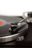 Record player. The picture shows a record player stock photo