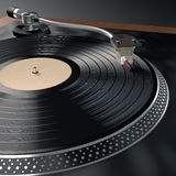 Record Player. Unique design created for this image. Concept of music in nightclubs Stock Images