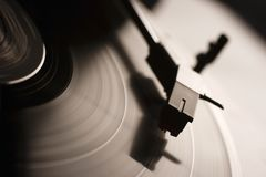 Record player. Old record LP and player Royalty Free Stock Photography
