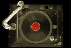Record player. Old phonograph Stock Images