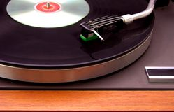 Record Player. With CD on top in a club Stock Image