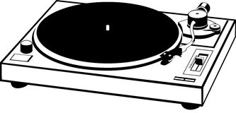 Record player. Vector drawn of a record player Royalty Free Stock Photo