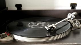 Record player closeup. stock footage