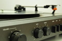 Record player controls Royalty Free Stock Photography