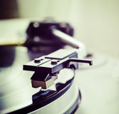Record player needle in vintage tone Stock Images