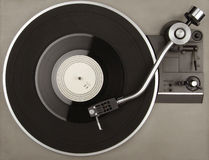 Record player with phonorecord. Record player with vinyl phonorecord Royalty Free Stock Photos