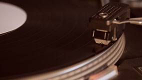Record player playing an old fashioned vintage vinyl record stock video footage