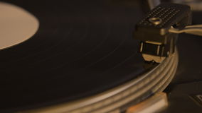 Record player playing an old fashioned vintage vinyl record stock video