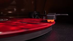 Record player playing in slowmo stock footage