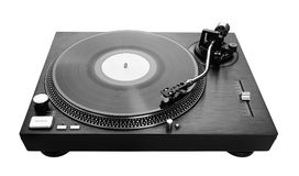 Record player playing vinyl Royalty Free Stock Photos