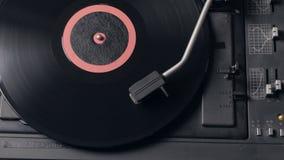 Record player playing vinyl. Retro Vinyl Turntable Stylus stock video
