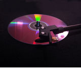 Record player plays DVD Royalty Free Stock Photo