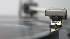 Record Player. Turntable  close up stock video