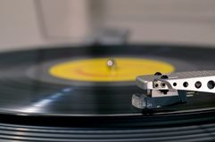 Record player side view
