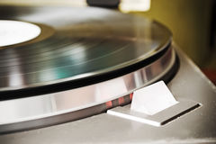 Record player strobe light Royalty Free Stock Photography
