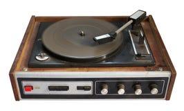 Record-player velho isolado no fundo branco Fotografia de Stock