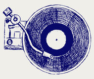 Record player vinyl record stock illustration