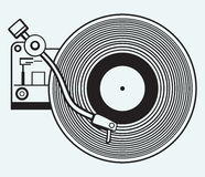 Record player vinyl record Stock Photography