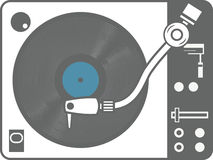 Record player vinyl record isolated Stock Photos