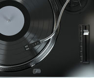Record player with vinyl record Royalty Free Stock Images
