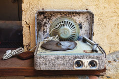 Record player, worn out Stock Images