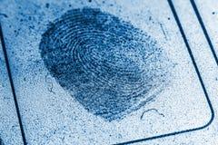 Record polveroso dell'impronta digitale fotografie stock libere da diritti