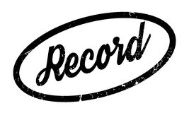 Record rubber stamp. Grunge design with dust scratches. Effects can be easily removed for a clean, crisp look. Color is easily changed Royalty Free Stock Photography