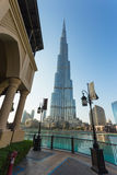 A record-setting fountain system set on Burj Khalifa Lake Royalty Free Stock Photos