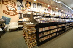 Record shop interior Royalty Free Stock Image