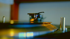 Record Spinning On Turntable stock video