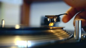 Record Spinning On Turntable stock footage