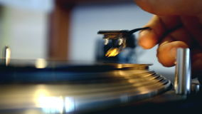 Record Spinning On Turntable stock video footage