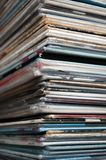 Record Stack. Stack of old Vinyl Records Collection Royalty Free Stock Image