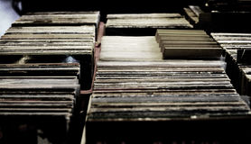 Record Store. Records in a Record Store Royalty Free Stock Photo