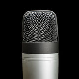 Record studio condenser microphone isolated close up Royalty Free Stock Photography