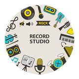 Record studio emblem Royalty Free Stock Images