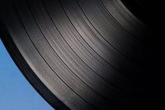 Record. The texture vinyl record under increase Stock Photo