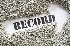 Record treasure word series Royalty Free Stock Photography