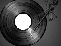 Record on turntable Royalty Free Stock Images