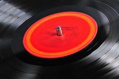 Record on turntable Royalty Free Stock Photos