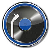 Record and turntable Stock Photo
