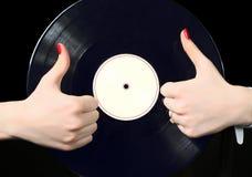Record vinyl Stock Photos