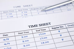 Record working times royalty free stock image