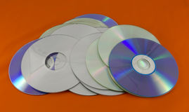 Recordable digital optical storage discs Royalty Free Stock Photos