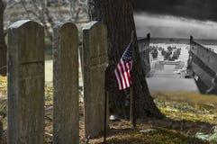 Recordando U S Heróis caídos WWII em França Imagem de Stock Royalty Free