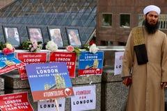 Recordar attentados terroristas del puente de Londres Imágenes de archivo libres de regalías