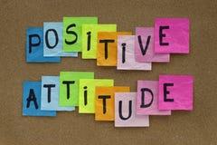 Recordatorio de la actitud positiva Fotografía de archivo