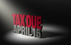 Recordatorio de la fecha debida del impuesto ilustración del vector